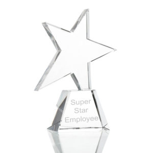 glass angled star award 02 1 300x300 - Angled Star Glass Award/Trophy