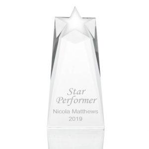 glass shooting star award 01 1 300x300 - Large Heavy Glass Shooting Star Award/Trophy