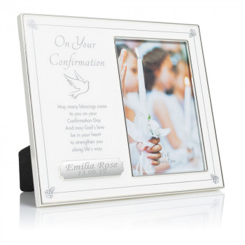 """on your confirmation frame engraving plate 01 1 350x350 - On Your Confirmation 4"""" x 6"""" Frame"""
