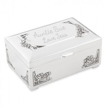 Trinket Jewellery Box Antique Finish