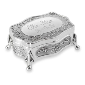 trinket jewellery box antique style 01 1 300x300 - Silver Plated Antique Style Trinket/Jewellery Box