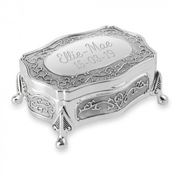 Silver Plated Antique Style Trinket/Jewellery Box