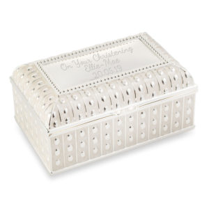 trinket jewellery box beaded edge 02 1 300x300 - Beautiful Beaded Edge Pearl Colour Finish Trinket/Jewellery Box