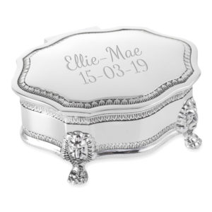 trinket jewellery box scalloped lid 01 1 300x300 - Silver Plated Art Deco Style Trinket/Jewellery Box