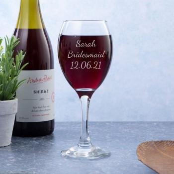 Personalised Single Wine glass