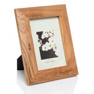 "5x7 oak wood frame 03 web 300x300 - Oak Finish 5""x7"" Wooden Photo Frame"