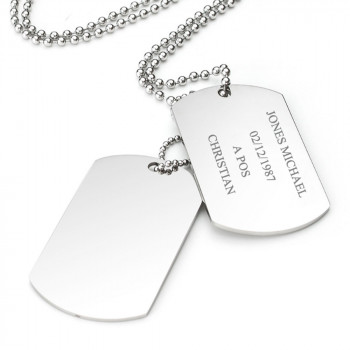 double dog tag engraved