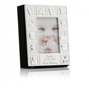 sonalised Baby Silver Plated Photo Album
