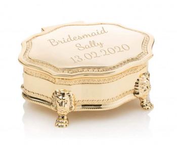 Gold trinket box