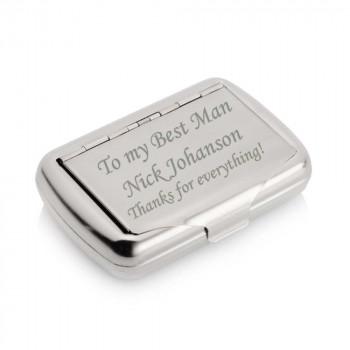 Chrome tobacco tin engraved