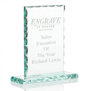 6 Inch Decorative edge trophy with logo