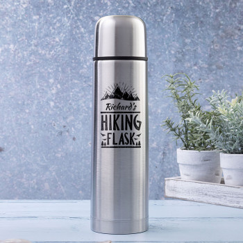 Hiking Brushed Steel Insulated Vacuum Flask