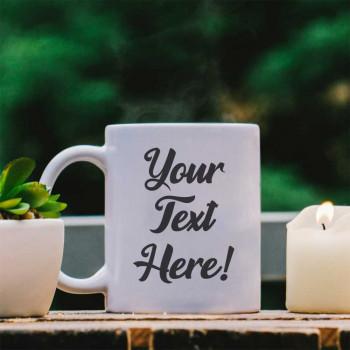 White Mug - Your custom text