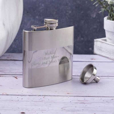 Personalised hip flask for Best man