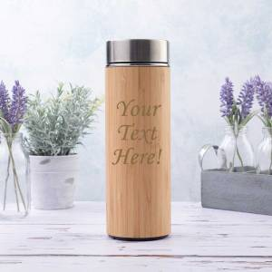 350ml Bamboo Flask with tea-fruit infuser