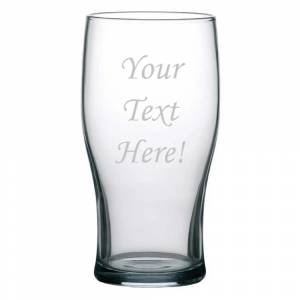 Personalised Tulip Toughened 570ml Beer Glass Nucleated - 570ml 20oz 1 pint CE
