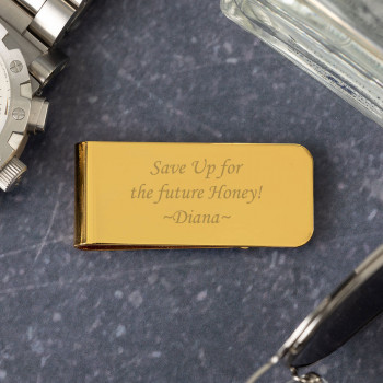 Personalised MC6 Gold Money Clip with Box