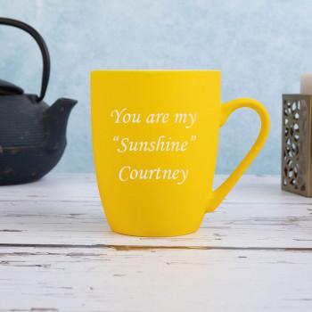 Matt Yellow Mug