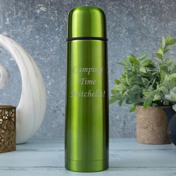 Personalised Metallic Green 500ml Thermos Flask