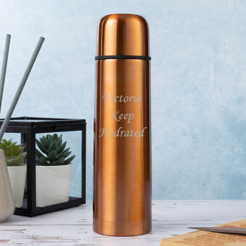 Personalised Metallic Copper 500ml Thermos Flask