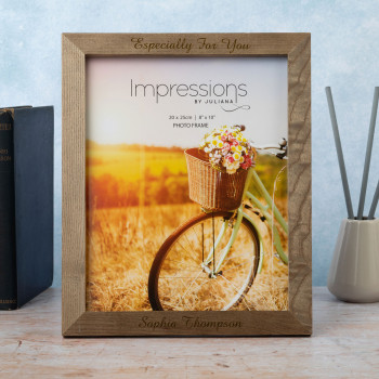 Personalised Wooden 8x10 Natural Finish Photo Frame