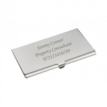 Personalised Classic Matt Business Card Holder