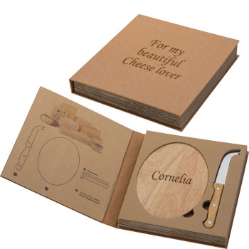 Personalised Wooden Cheese Board with Knife