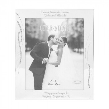 Silver Plated 8″x10″ Photo Frame with Side Crystals Design