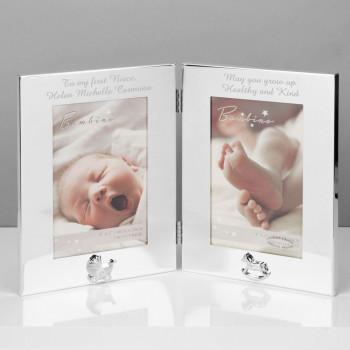 """Personalised Keepsake 4"""" x 6"""" Double Photo Frame"""