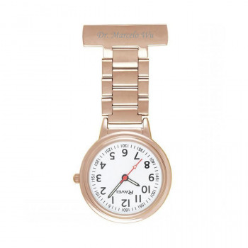 Personalised Rose Gold Nurse's FOB Watch