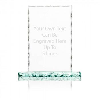 Text Engraved Rectangular Decorative Edge Trophy