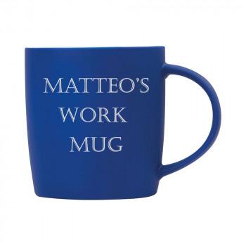 Personalised Matt Blue Mug