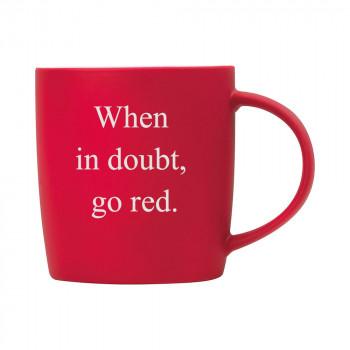 Personalised Matt Red Mug