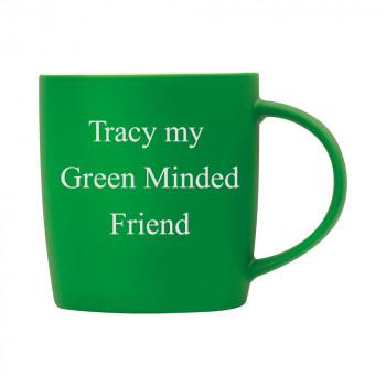 Personalised Matt Green Mug