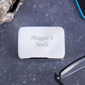 Personalised Silver Plated Pill Box